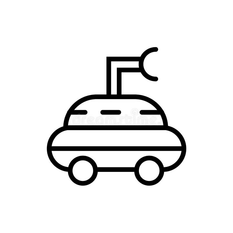 Isometric Mars Rover stock vector. Illustration of