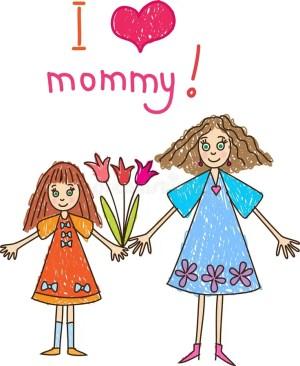 mother drawing daughter mothers flowers bambini dag het geitjes jonge trekken giorno disegno madre madri tekenen father mutter dei moeder