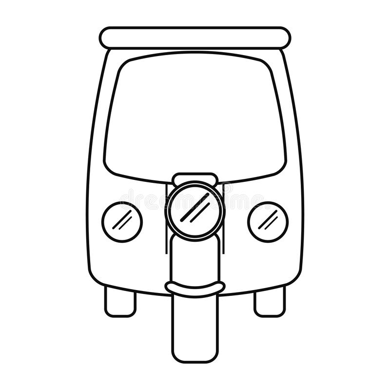 Motor Rickshaw Transport Tricycle Outline Stock Vector