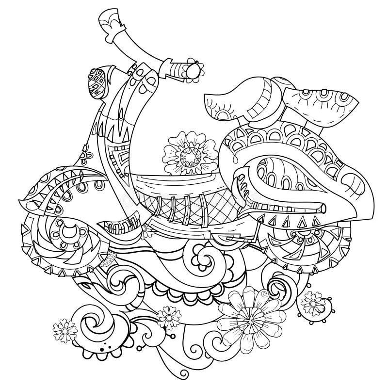 Hand Drawn Illustration Of An Anchor Stock Vector Art
