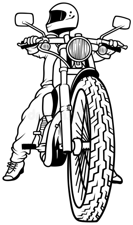 Motorcycle Outline Drawing