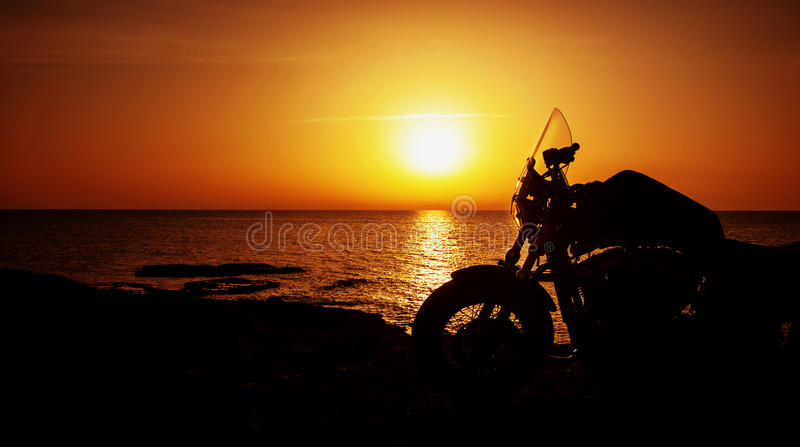 Motorcycle On Sunset Stock Image Image Of Closeup