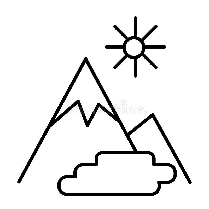 Sun nature vector icon stock vector. Illustration of