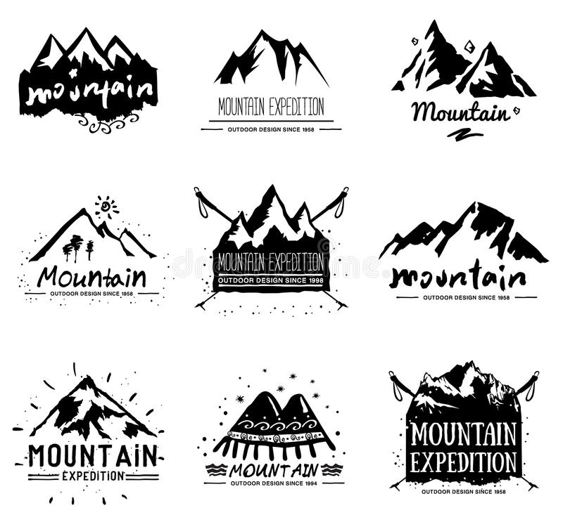 Set Of Vintage Camping Logos. Symbols Of The National Park