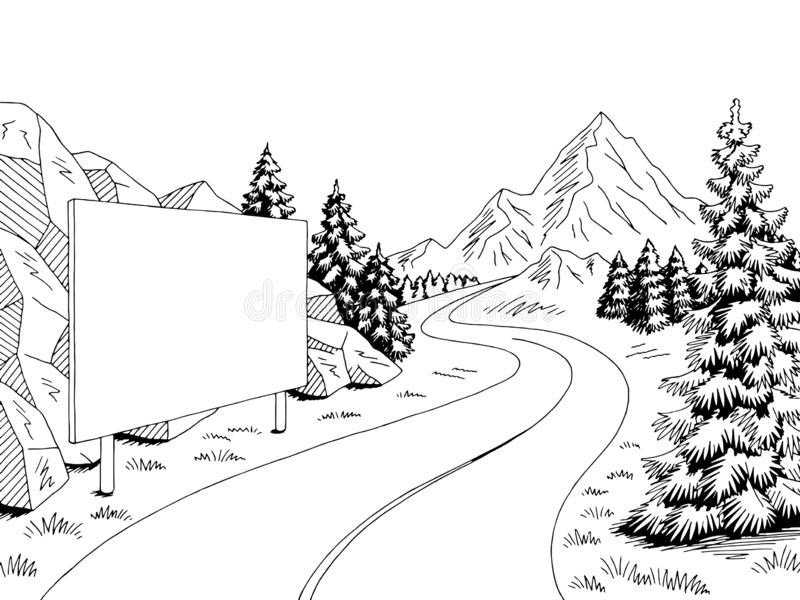 Mountain landscape stock vector. Illustration of happy
