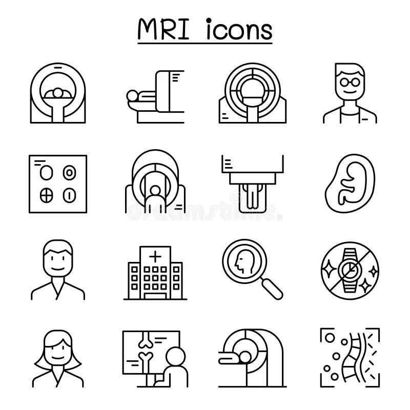 MRI diagnostic stock vector. Illustration of image