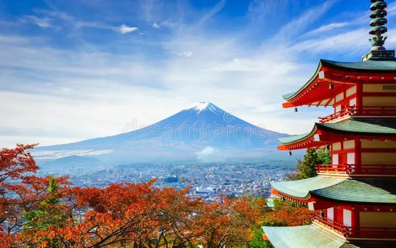 Interfacelift Fall Wallpaper Mt 与chureito塔的富士,吉田市,日本 库存照片 图片 包括有 女衬衫 富士 火山 11月