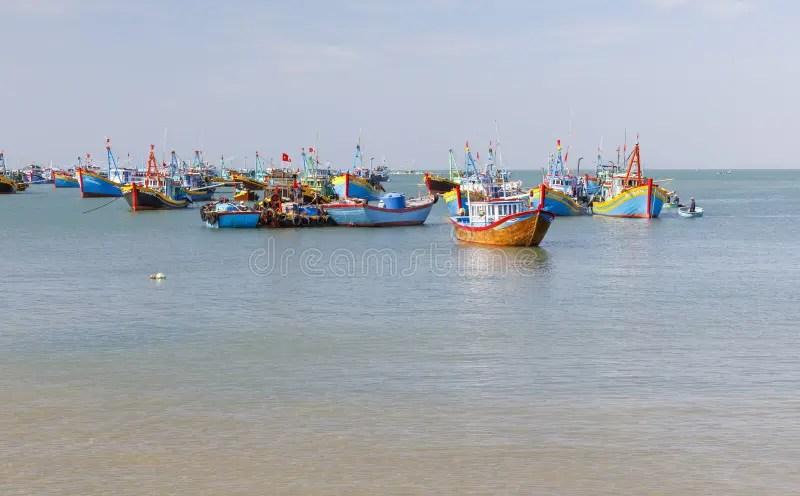 Mui ne harbor stock photo. Image of women. vietnam. fish - 764488