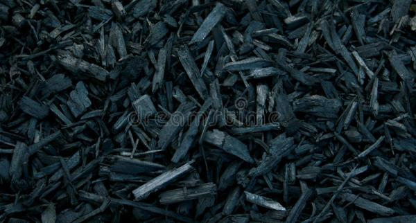 mulch black decorative bark stock