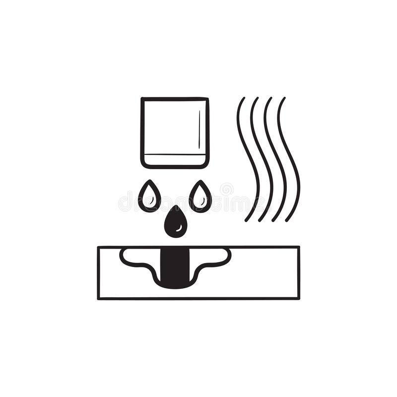 TV Set Hand Drawn Outline Doodle Icon. Stock Vector