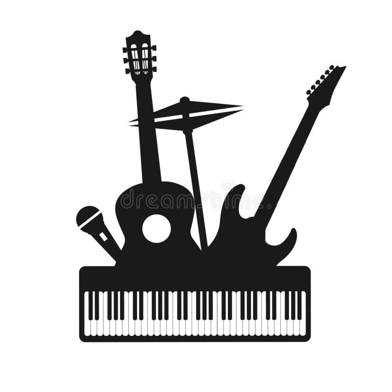 Musical Instruments Silhouette Stock Illustration