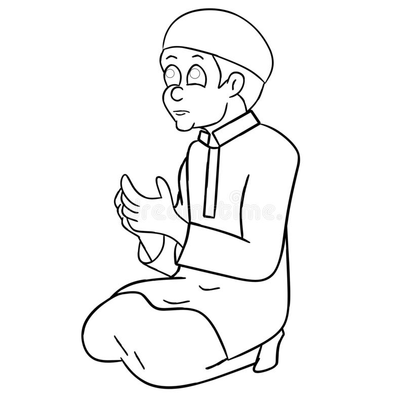 Black Man Prayer Hands Stock Illustrations