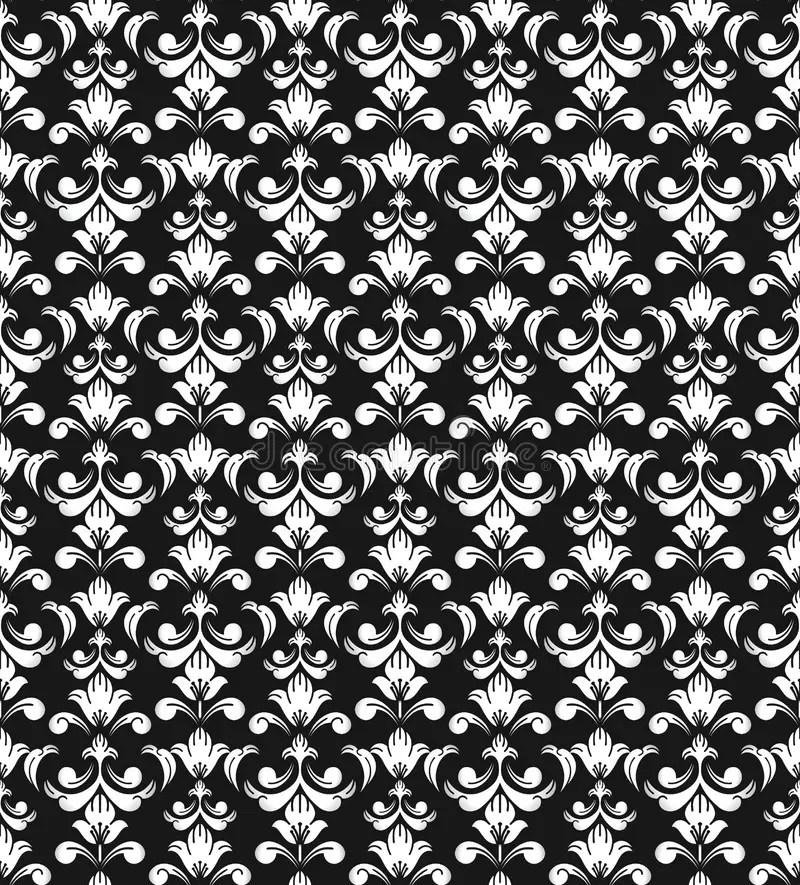 Naadloos antiek behang vector illustratie Illustratie