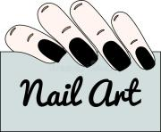 nail art. gothic manicure. stock