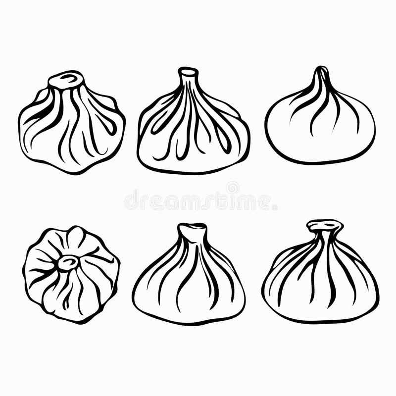 Cooking Dumplings. Vector Instruction In Picture Cooking