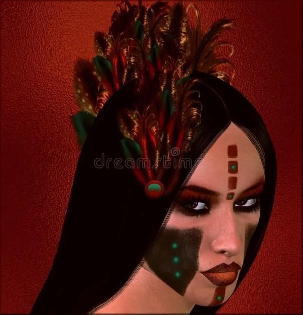 Native American Fantasy Art Dawn Warrior. Stock - Of Abstract Charming 64457965