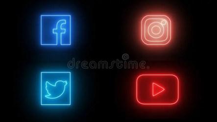 icons neon social vector notification comment sociala icon glowing led lights follower modern whatsapp logos serkan nyare ikoner foer