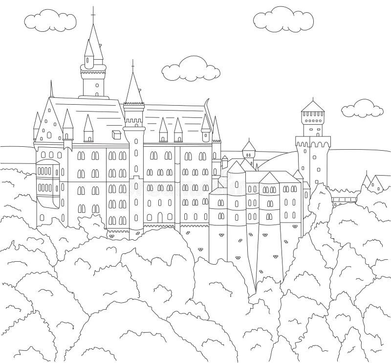 Neuschwanstein Castle In Germany Royalty Free Stock Photo