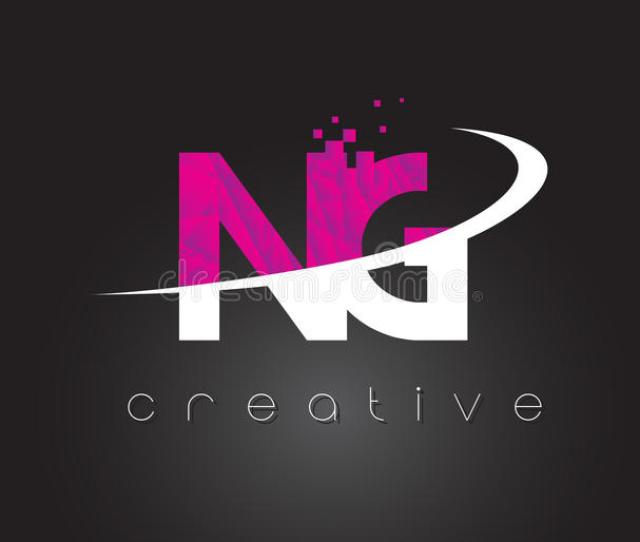 Download Ng N G Creative Letters Design With White Pink Colors Stock Vector Illustration Of Alphabet