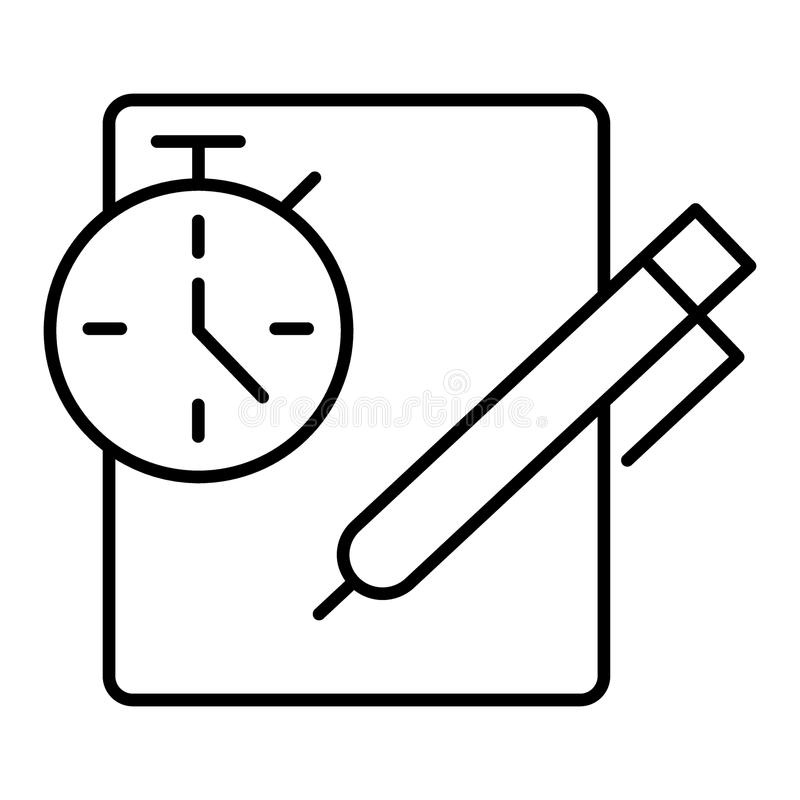 Clipboard and stopwatch stock illustration. Illustration