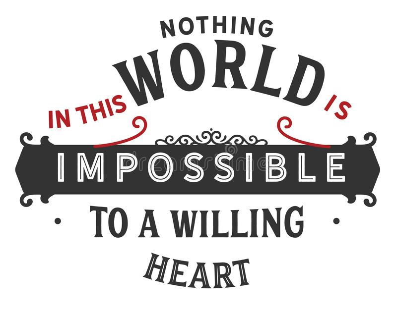 Nothing Impossible Stock Illustrations
