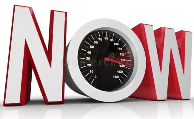 Now Speedometer Racing To Beat Urgent Deadline Stock