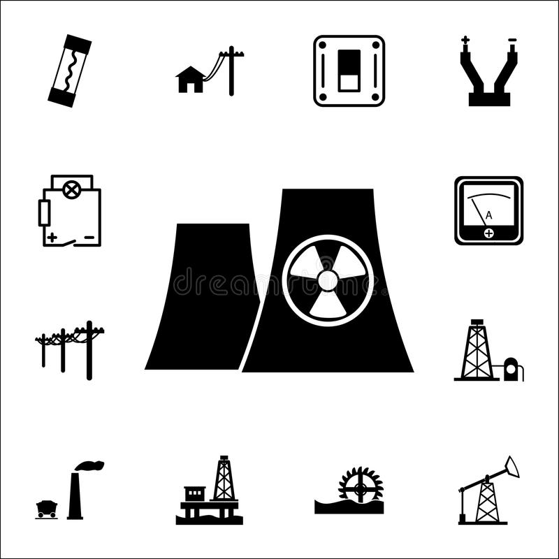 Graphic of nuclear energy stock vector. Illustration of