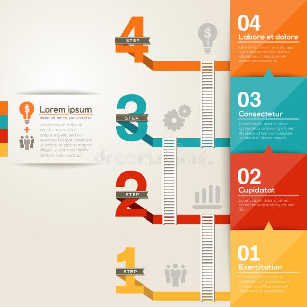 Graphic Design Layout for Steps