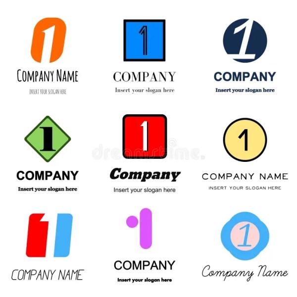 Number 1 Vector Logos Stock - 58882752