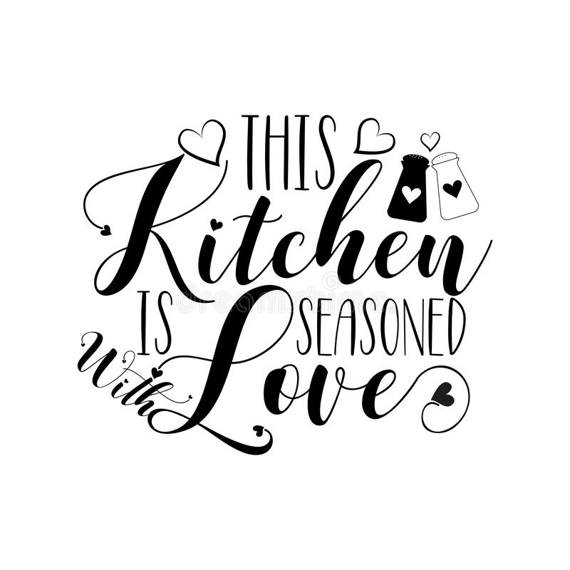 Download This Kitchen Is Seasoned With Love, Vector, Wording Design ...