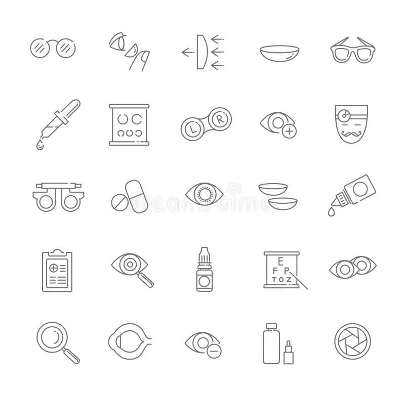 Glasses Vision Correction Stock Illustrations