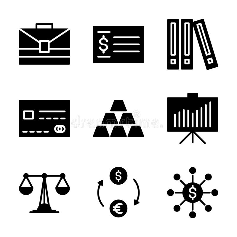 Office Business Icon Set Include Business,suitcase,check