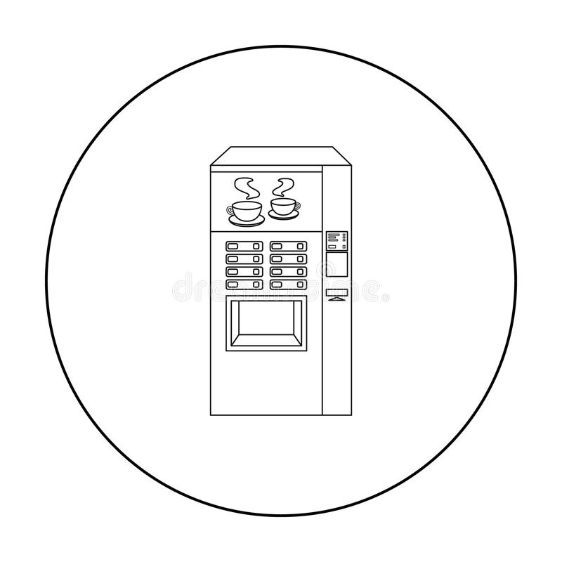 Coffee Machine Icon, Outline Style Stock Vector
