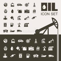 Oil Industry Icon Set Stock Vector. Illustration Of Symbol