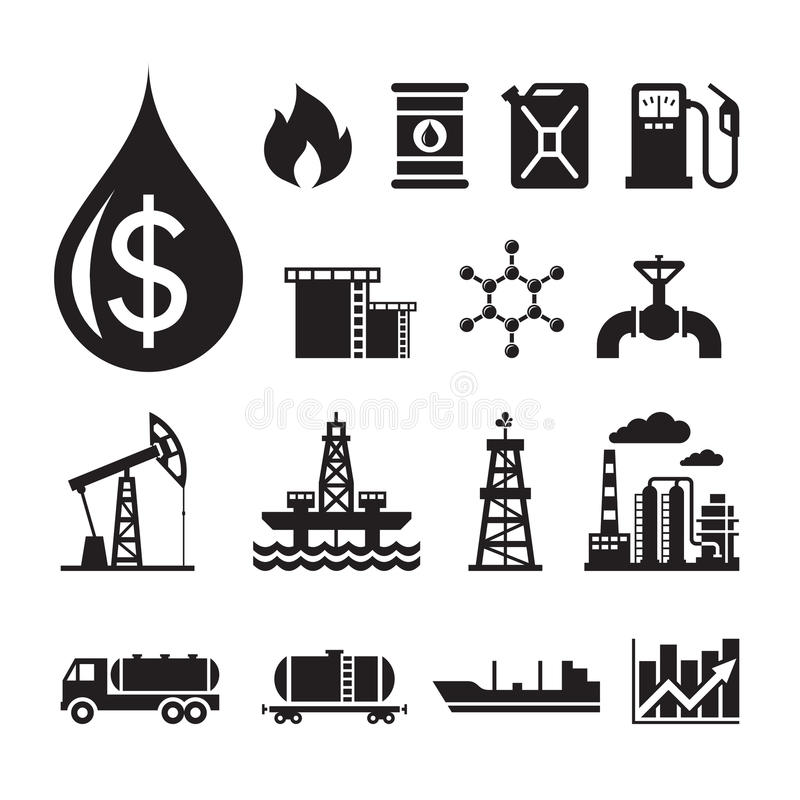 16 Oil Industry Vector Icons For Infographic, Business