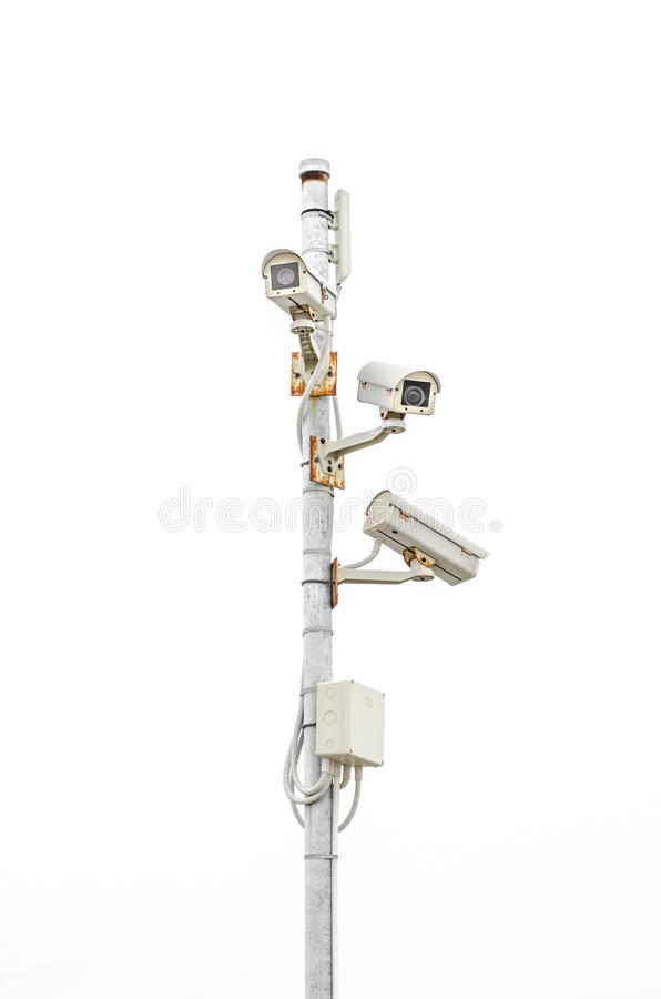 CCTV security camera stock image. Image of guard, control