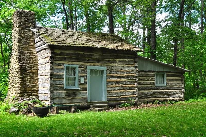 Old Log Cabin stock image Image of illinois fireplace