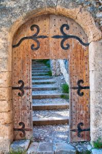 Old Open Wooden Door With Stairs Stock Image - Image: 22432609