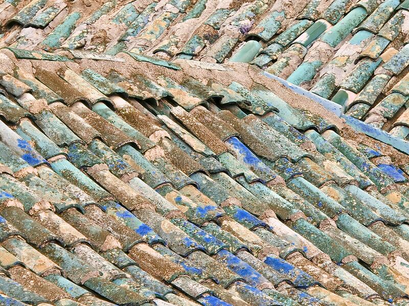 vintage roof of a house with colorful roof tiles stock image image of rain blue 182060257