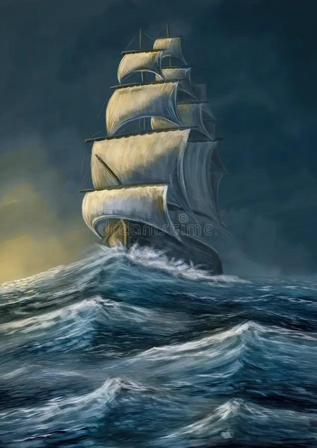 Pirate Ship Storm : pirate, storm, Pirate, Storm, Stock, Illustrations, Illustrations,, Vectors, Clipart, Dreamstime