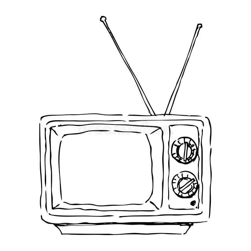Old tv stock illustration. Image of electric, background
