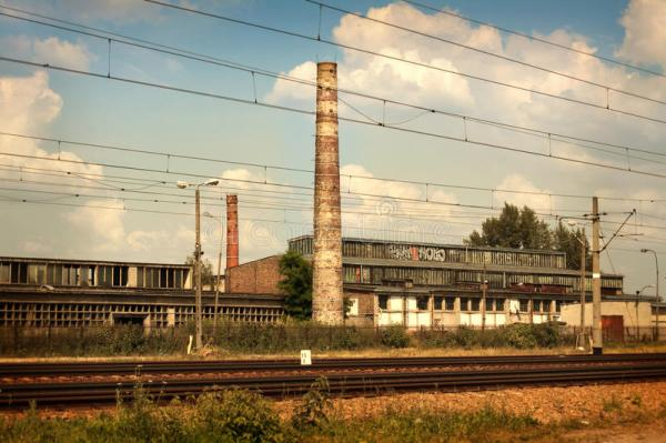 sad industrial landscape stock