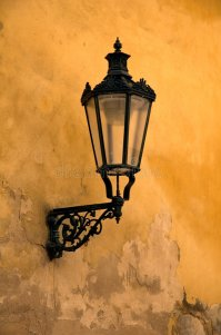 Old wall lamp stock image. Image of glass, square, eastern ...
