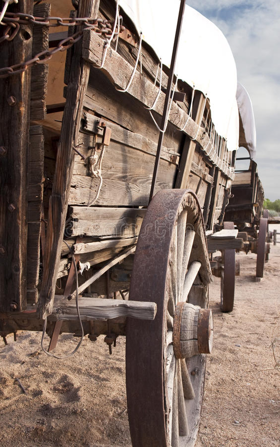 Old West Covered Wagon Train Stock Image Image 10689557