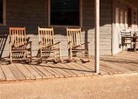 Old Western Town Rocking Chairs Royalty Free Stock ...