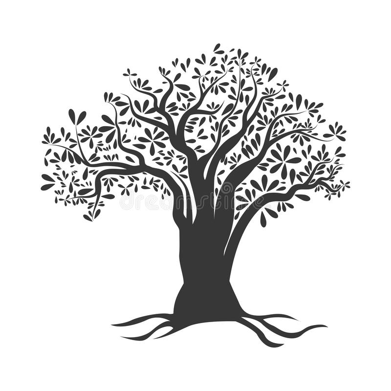 Olive Tree Icon. Organic And Healthy Food Design. Vector