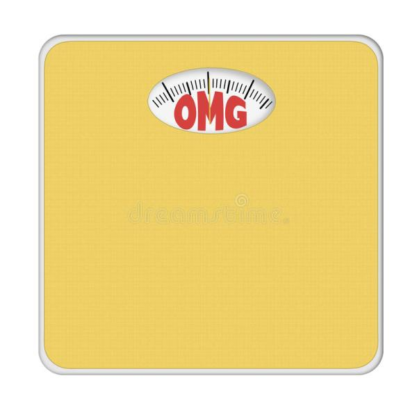 OMG Overweight Bathroom Scale Scales Isolated On White