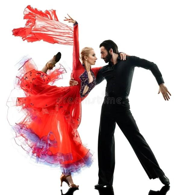 Man Woman Couple Ballroom Tango Salsa Dancer Dancing
