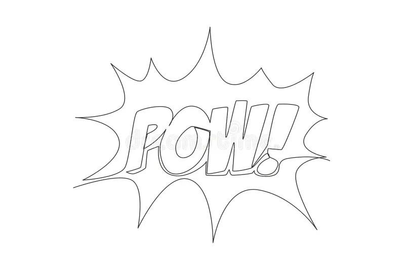 Font Pow Stock Illustrations