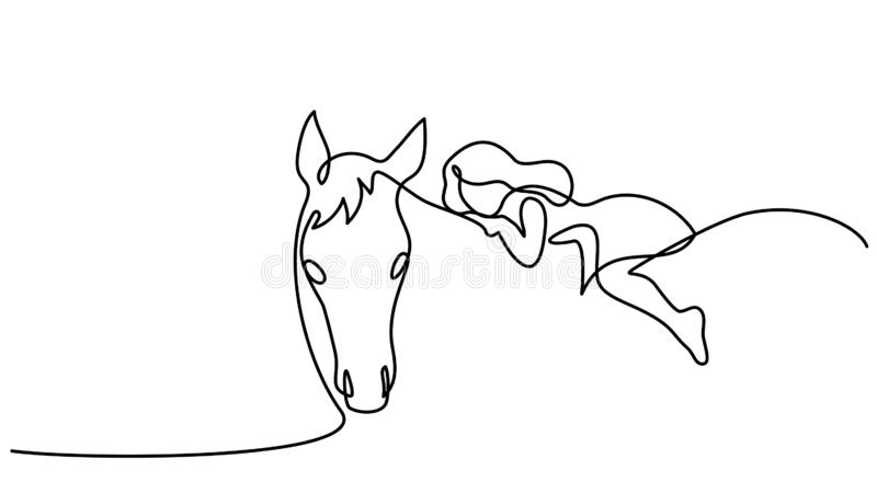 Girl Riding Horse Stock Illustrations